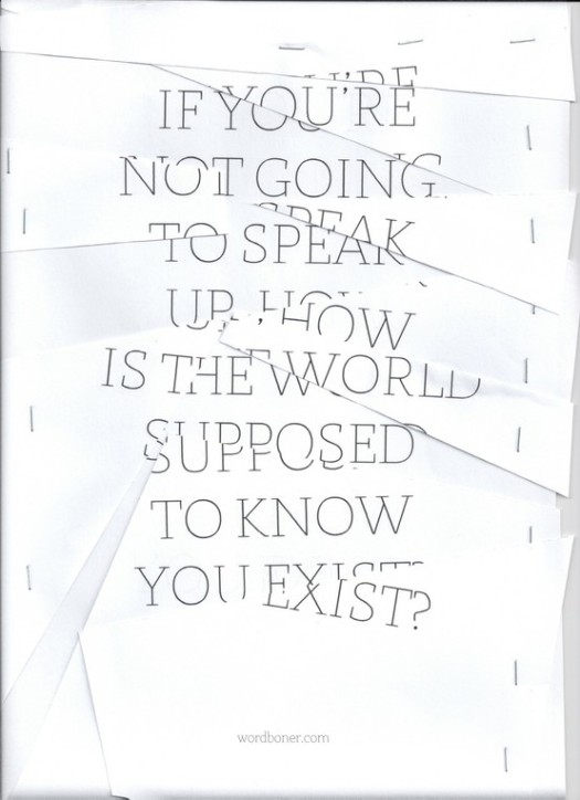 Speak Up;Exist