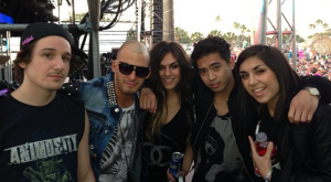 Nathan w/ Krewella & the other Co-Manager, Jake